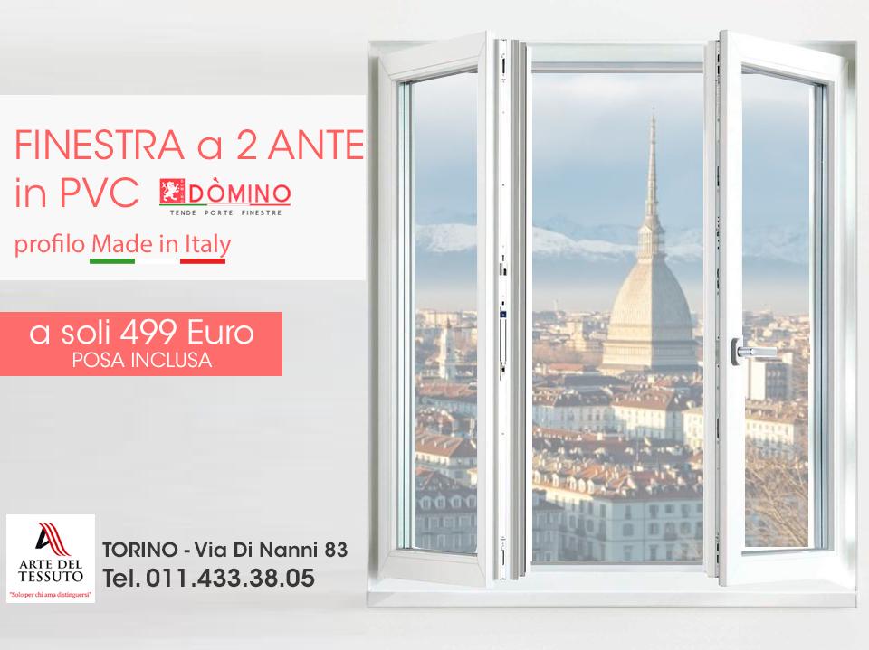 Finestra a 2 ante 499 euro domino tende porte e for Finestra pvc 2 ante